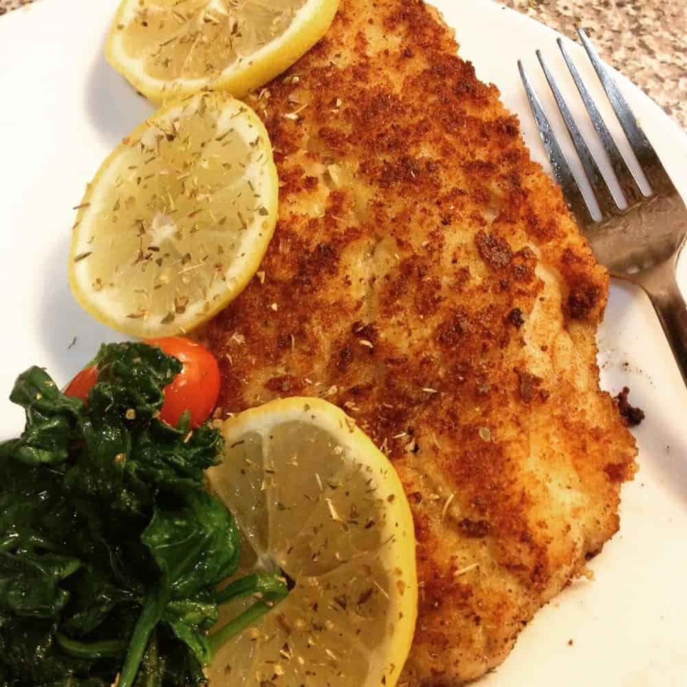 Panko and parmesan crusted swai the buppie foodie for Swai fish walmart