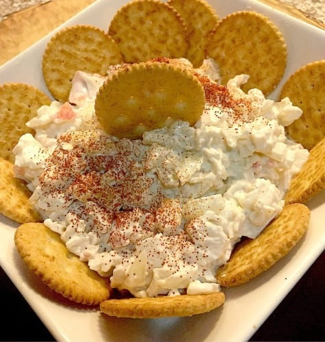 Crab Dip with Ritz Crackers