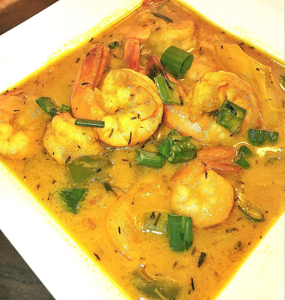 Romantic dinner recipe jamaican curry shrimp and scallops the jamaican curry shrimp and scallops forumfinder Image collections