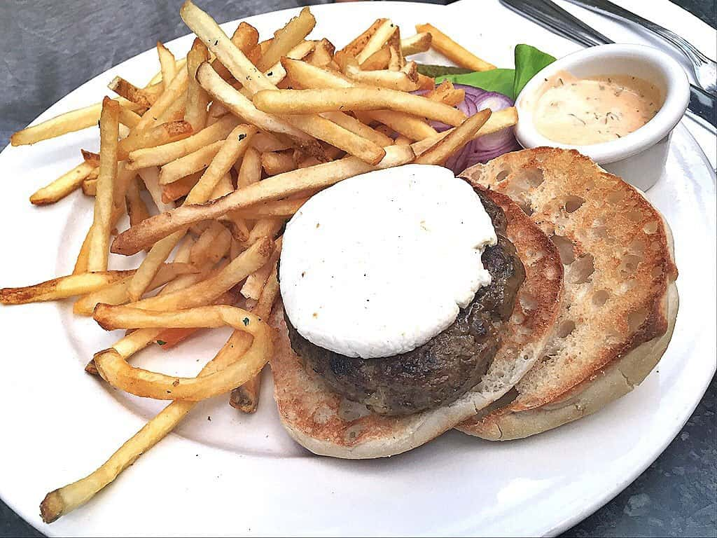 Spicy Lamb Burger from Juliette in Williamsburg