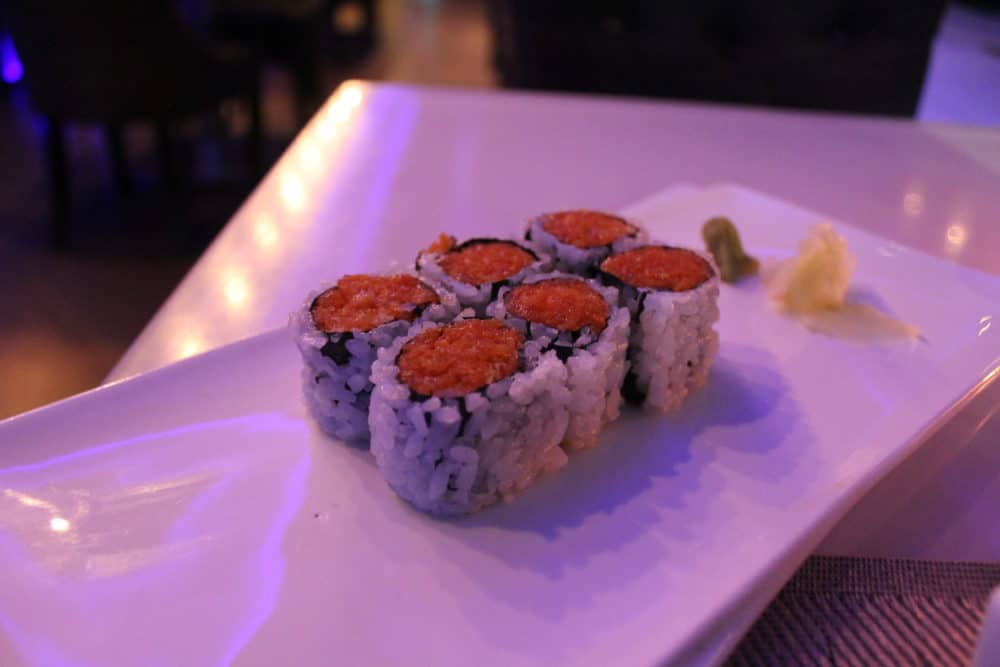 Spicy Salmon Roll @ Fushimi in Williamsburg