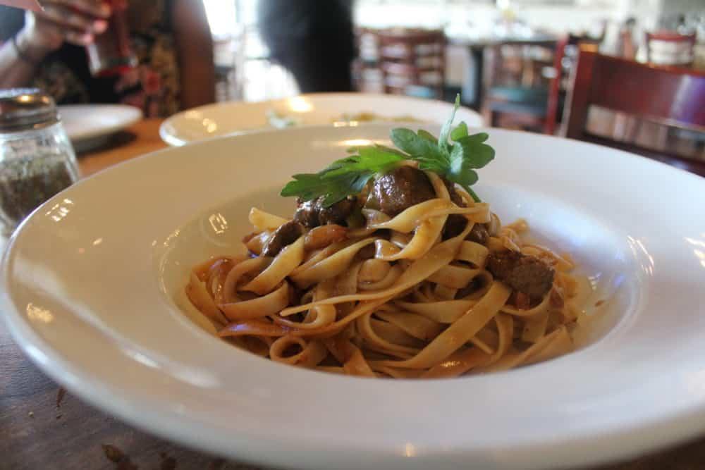 Tagliatelle with Filet Mignon @ Capizzi (Staten Island)