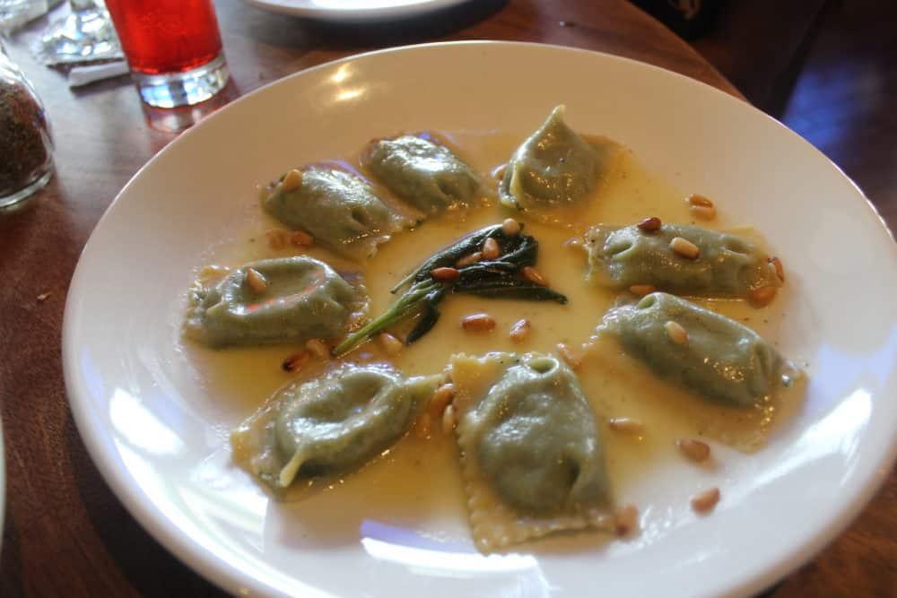 Spinach & Ricotta Ravioli @ Capizzi (Staten Island)